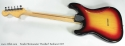 Fender Stratocaster Hardtail Sunburst 1977 full rear view