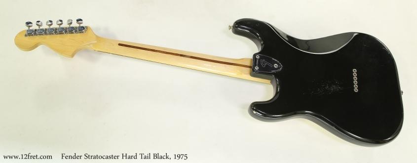 Fender Stratocaster Hard Tail Black, 1975   Full Rear View