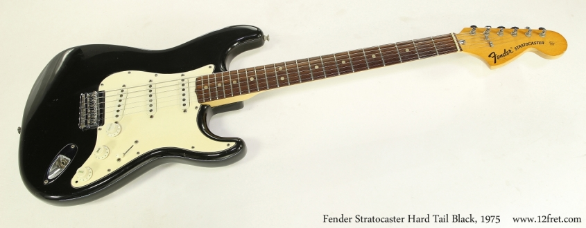 Fender Stratocaster Hard Tail Black, 1975   Full Front View