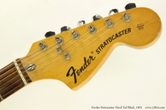 Fender Stratocaster Hard Tail Black, 1975  Head Front View