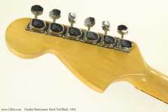 Fender Stratocaster Hard Tail Black, 1975   Head Rear View