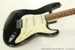 Fender Stratocaster Hard Tail Black, 1975    Front View