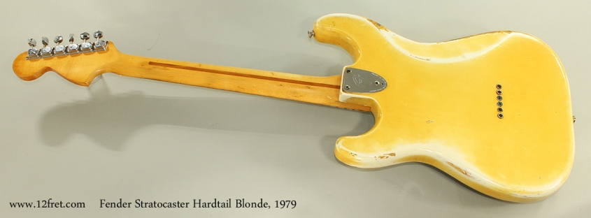 Fender Stratocaster Hardtail Blonde, 1979 Full Rear View