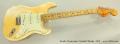 Fender Stratocaster Hardtail Blonde, 1979 Full Front View