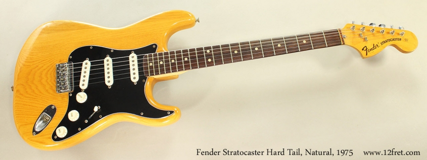 Fender Stratocaster Hard Tail, Natural, 1975 Full Front View
