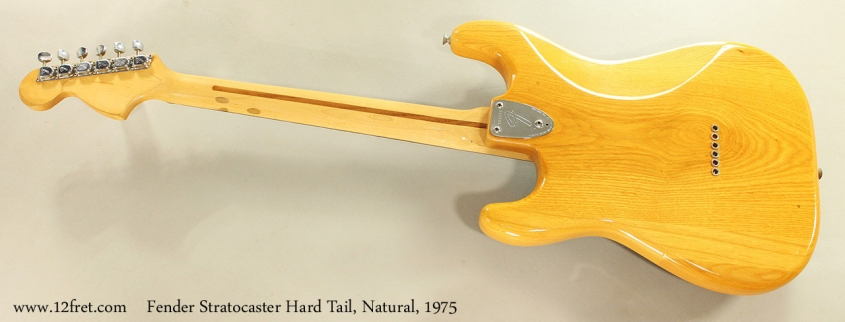 Fender Stratocaster Hard Tail, Natural, 1975 Full Rear View