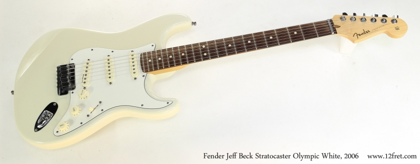 Fender Jeff Beck Stratocaster Olympic White, 2006   Full Front VIew