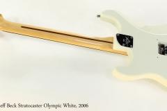 Fender Jeff Beck Stratocaster Olympic White, 2006   Full Rear View