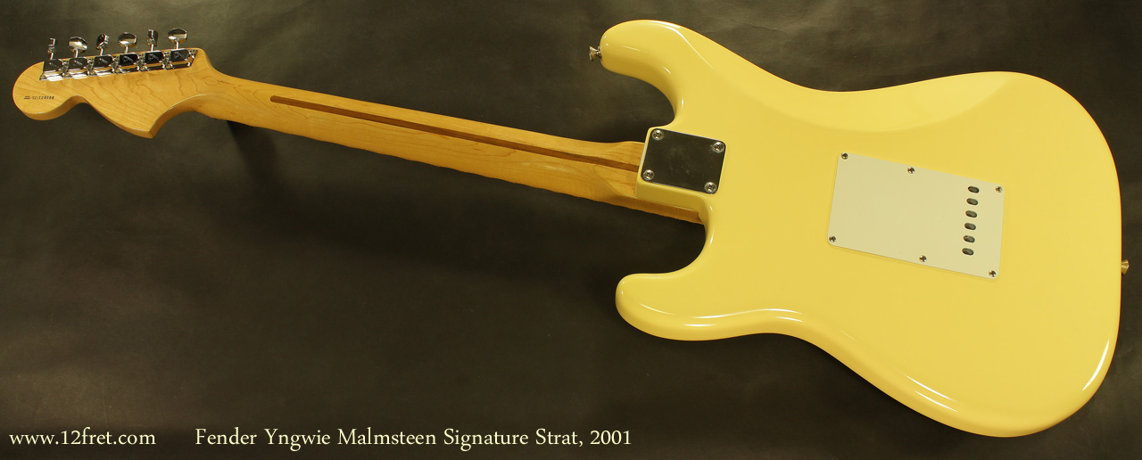 Fender Yngvie Malmsteen Signature Strat 2001 full rear view