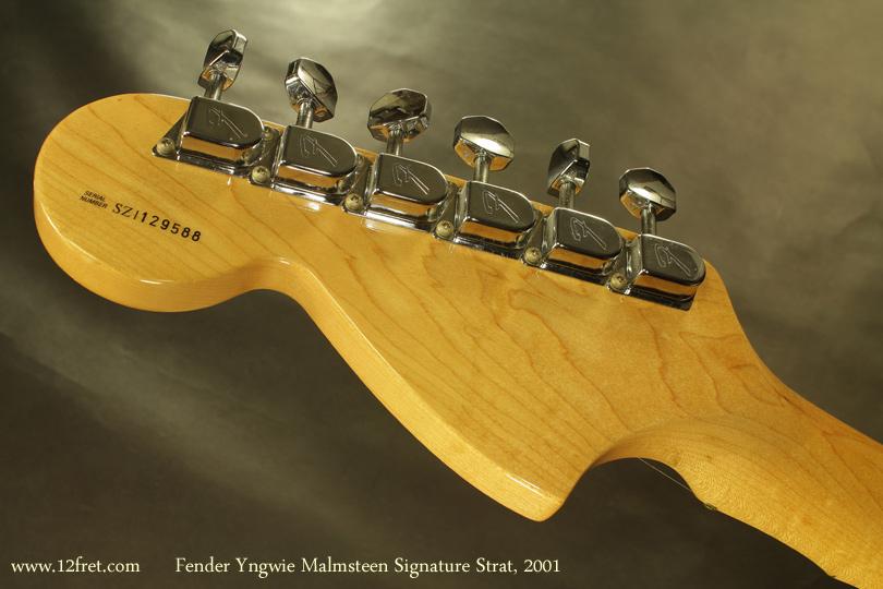 Fender Yngvie Malmsteen Signature Strat 2001 head rear