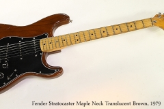Fender Stratocaster Maple Neck Translucent Brown, 1979  Full Front View