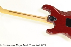 Fender Stratocaster Maple Neck Trans Red, 1979 Full Rear View