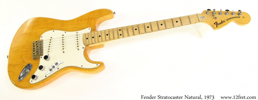 Fender Stratocaster Natural, 1973 Full Front View