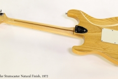 Fender Stratocaster Natural Finish, 1972  Full Rear View