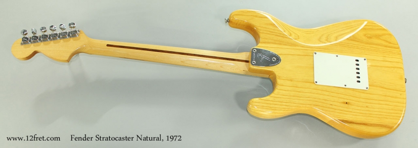 Fender Stratocaster Natural, 1972 Full Rear View