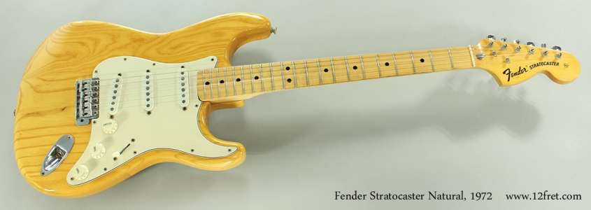 Fender Stratocaster Natural, 1972 Full Front View