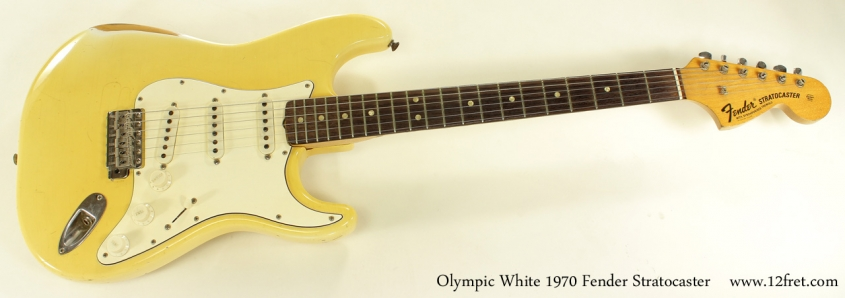 Fender Stratocaster Olympic White 1970 full front view