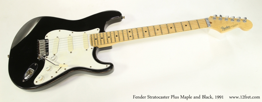 Fender Stratocaster Plus Maple and Black, 1991 Full Front View
