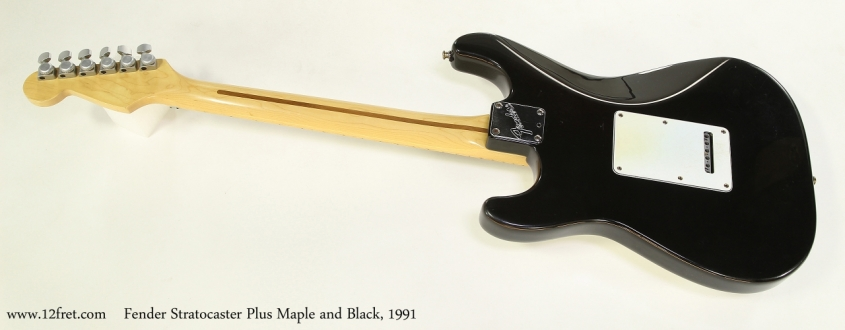 Fender Stratocaster Plus Maple and Black, 1991 Full Rear View