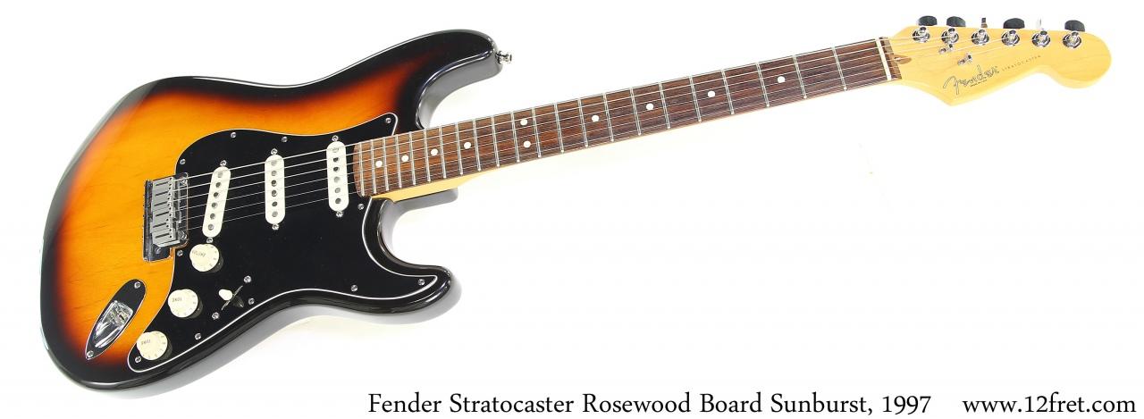 Fender Stratocaster Rosewood Board Sunburst, 1997 Full Front View
