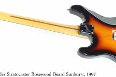 Fender Stratocaster Rosewood Board Sunburst, 1997 Full Rear View