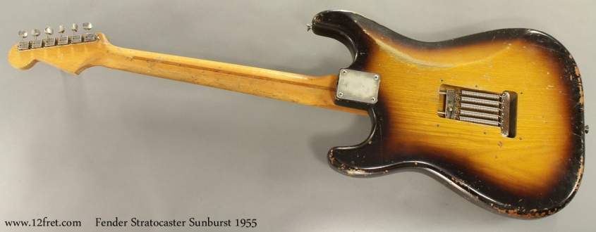 Fender Stratocaster Sunburst 1955 full rear view