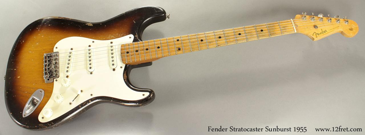 Fender Stratocaster Sunburst 1955 full front view