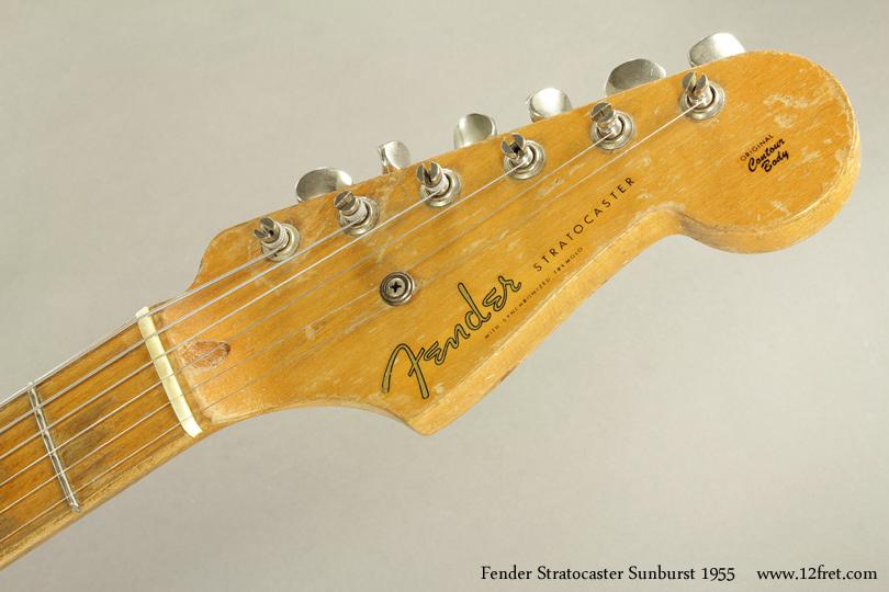 Fender Stratocaster Sunburst 1955 head front