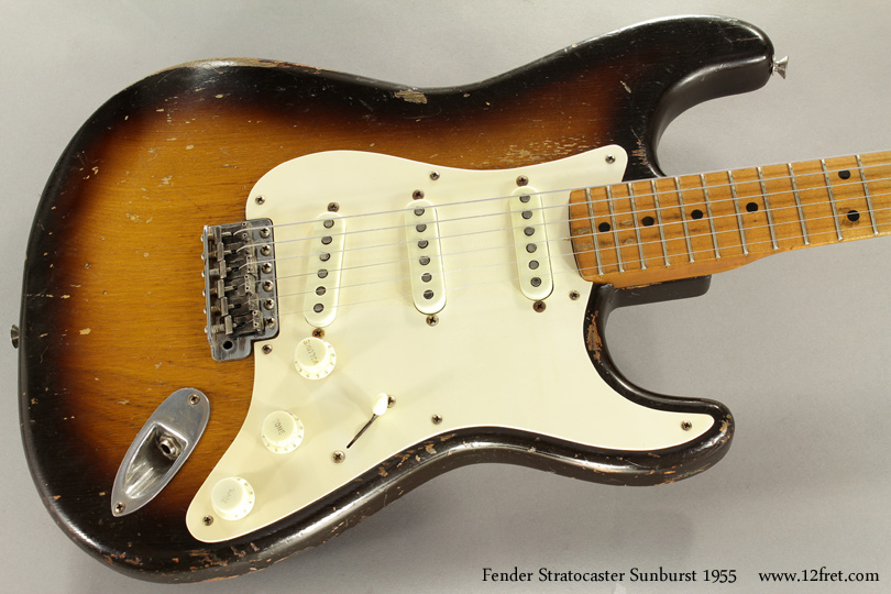 Fender Stratocaster Sunburst 1955 top