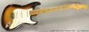 Fender Stratocaster Sunburst 1955 full front view