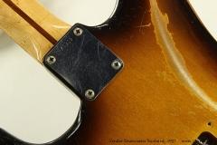 Fender Stratocaster Sunburst, 1957 Neck Plate View