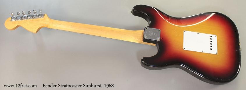 Fender Stratocaster Sunburst, 1968 full rear view