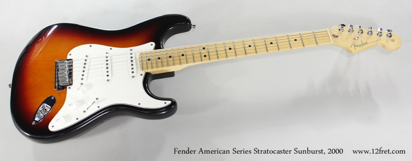 Fender American Series Stratocaster Sunburst, 2000 Full Front View