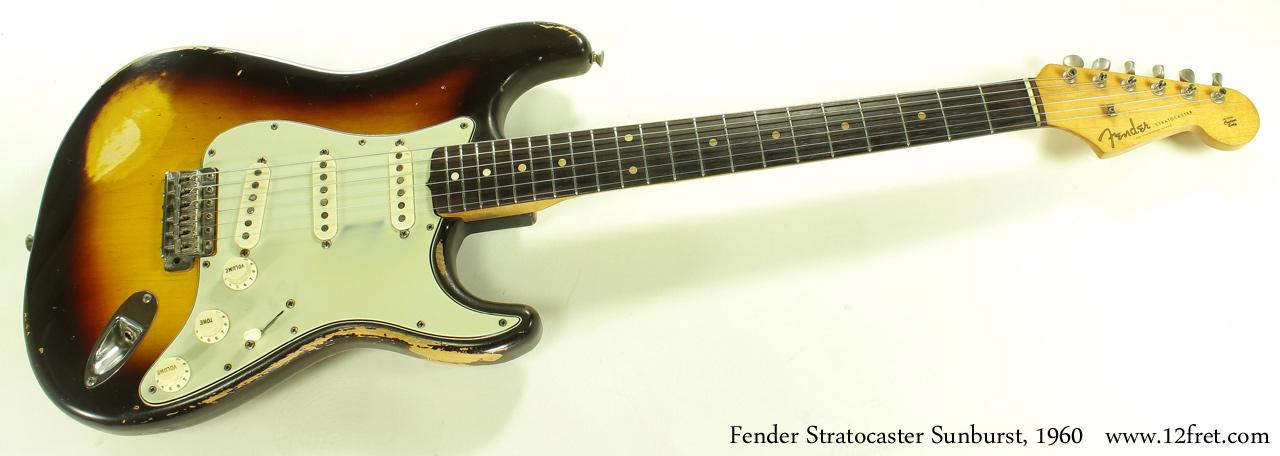 1960 Sunburst Fender Stratocaster   www.12fret.com