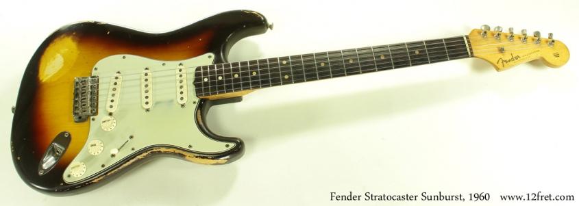 Fender Stratocaster Sunburst 1960 full front view