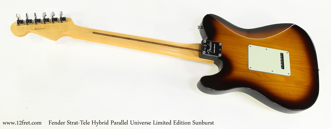 Fender Strat-Tele Hybrid Parallel Universe Limited Edition Sunburst   Full Rear View