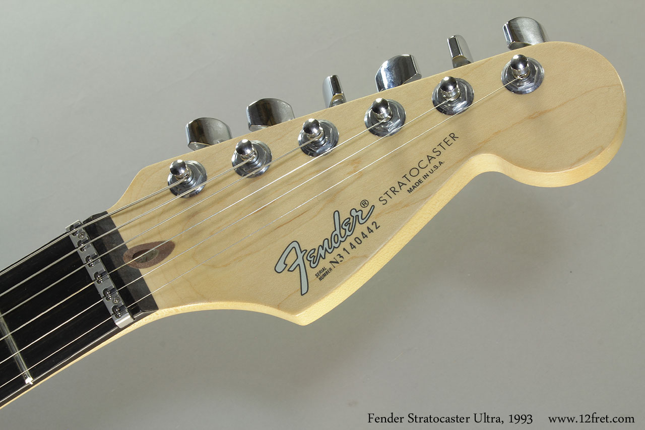 Fender Stratocaster Ultra, 1993 Head Front