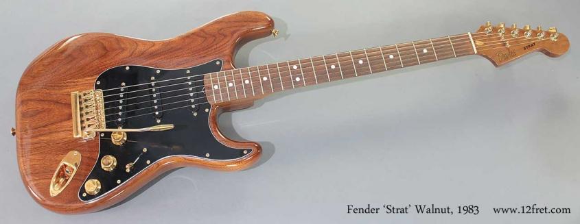 Fender Strat Walnut 1983 full front view