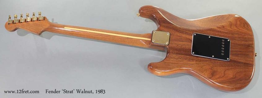 Fender Strat Walnut 1983 full rear view