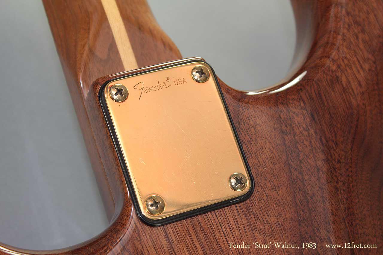 Fender Strat Walnut 1983 neckplate