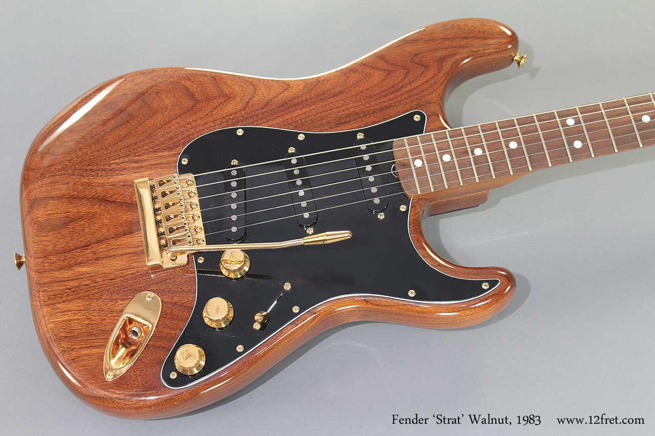 Fender Strat Walnut 1983 top