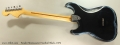 Fender Stratocaster Hardtail Black, 1979 Full Rear View