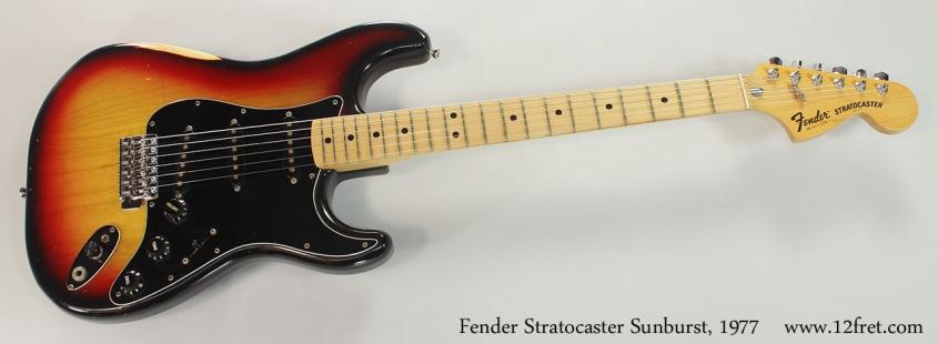 Fender Stratocaster Sunburst, 1977 Full Front View