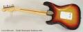 Fender Stratocaster Sunburst, 1977 Full Rear View