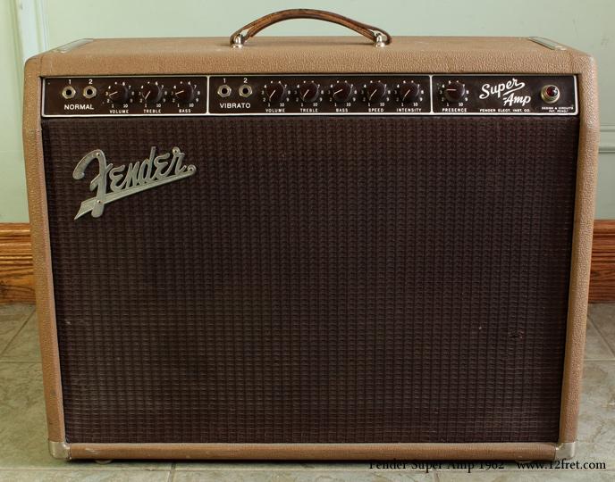 Fender super amplifier 1962 front