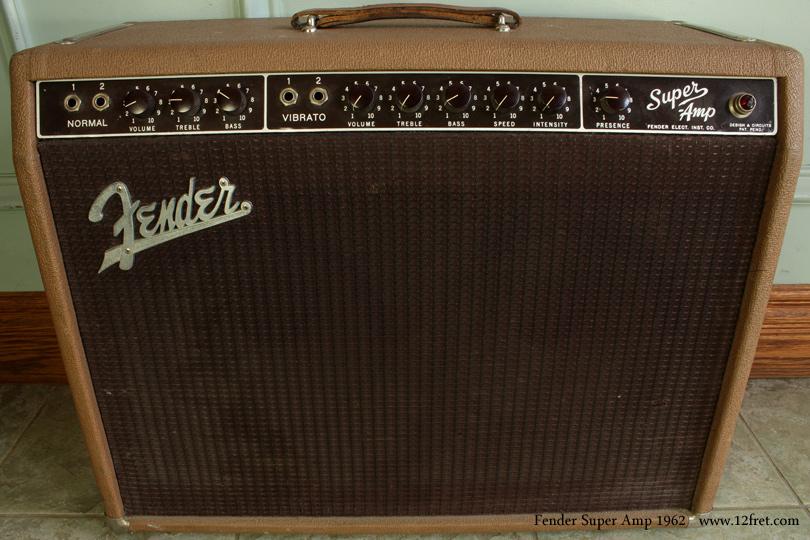 Fender super amplifier 1962 panel