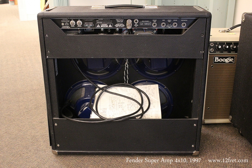 Fender Super Amp 4x10, 1997 Full Rear View
