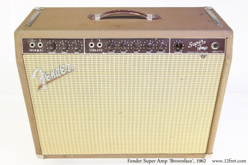Fender Super Amp \'Brownface\', 1962 Full Front View