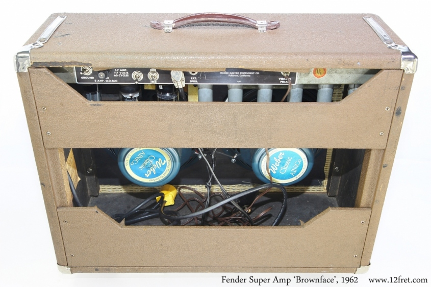 Fender Super Amp \'Brownface\', 1962 Full Rear View