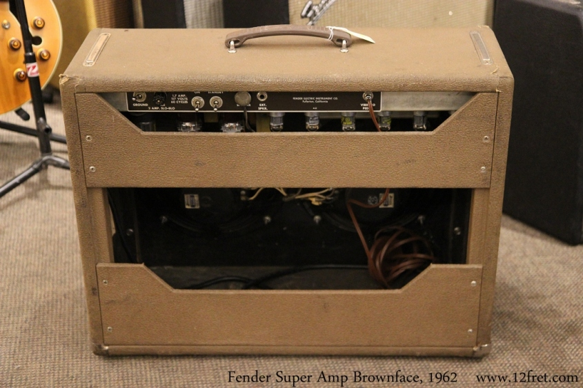 Fender Super Amp Brownface, 1962 Full Rear View